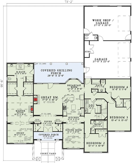 3 Car Garage House Plans And Bonus Rooms On Pinterest
