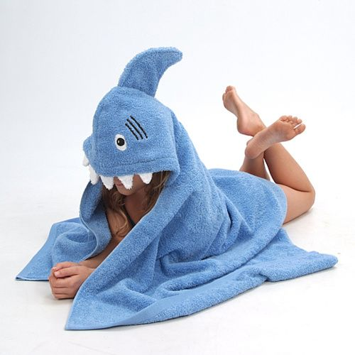 Sandy Shark Hooded Towel