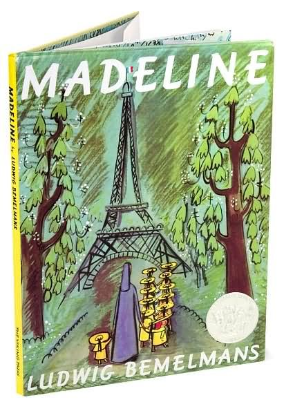"""""""In an old house in Paris that was covered with vines, lived twelve little girls in two straight lines""""...  Love reading """"Madeline"""" to my girl"""
