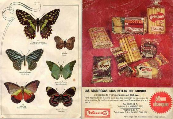 Los cromos de mariposas de Panrico.: