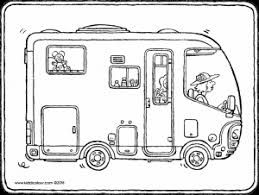 Wohnmobil Kiddimalseite Coloring Pages Colorful Pictures Colouring Pages