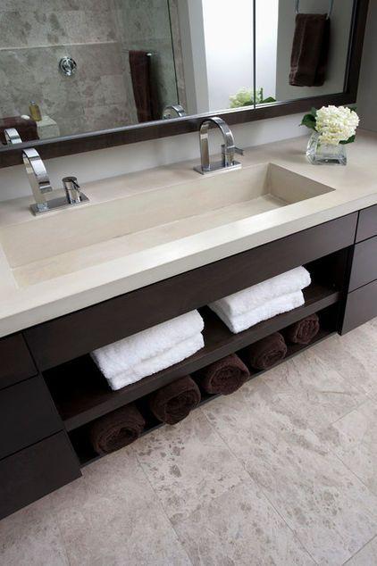 Lavabos Para Baño De Concreto: baño de muchachos azulejos de ducha lavabo doble estanterías