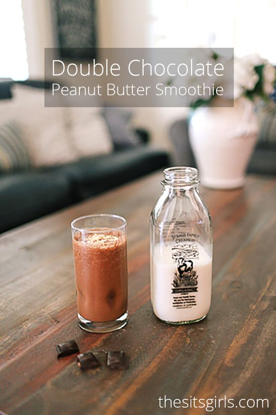 Peanut butter smoothie, Chocolate peanut butter and Smoothie on ...