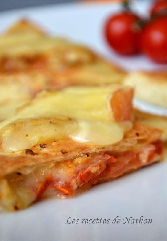 Les recettes de Nathou: Quesadillas au Maroilles, tomates et moutarde à l'ancienne
