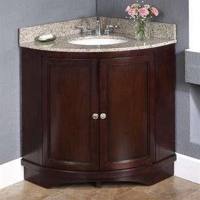 Small Corner Sink Vanity : corner sink bathroom corner vanity wood bathroom vanity set bathroom ...