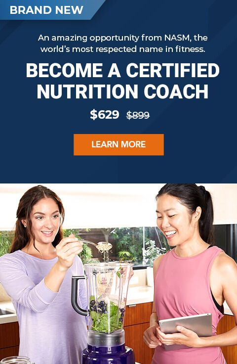 Get Certified Nutrition Personal Training Certifications Nasm In 2020 Personal Training Certification Nutrition Coach Continuing Education