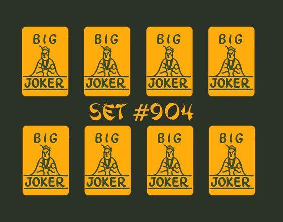 Mah Jongg Joker Stickers to match the real Joker tiles, 8/27/15