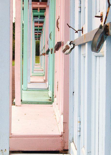 Pastel Beach Huts: