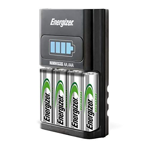 Energizer Recharge Basic Charger With 2 Aa Nimh Rechargeable Batteries Included Led Indicator Rechargeable Aa Shop The Uix Network Aaa Battery Charger Rechargeable Batteries Battery Charger