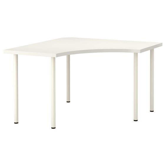 VIKA AMON/VIKA ADILS Corner table - white - IKEA, matches current studio desk. would give me enough space,
