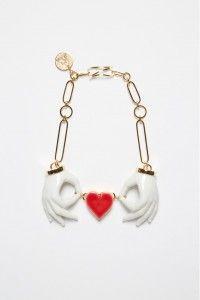Colar Heart Couple Hand