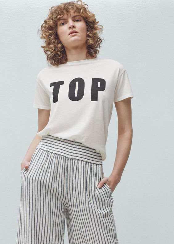 T-shirt algodão modal - T-shirts de Mulher | MANGO Portugal