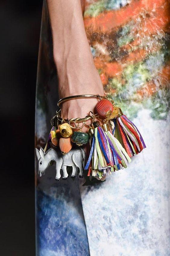 stella jean....hooked charms onto plain bangle