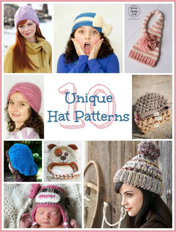 Free Crochet Patterns Novelty Hats : 10 Free Unique Hat Crochet Patterns Hats, Hat crochet ...