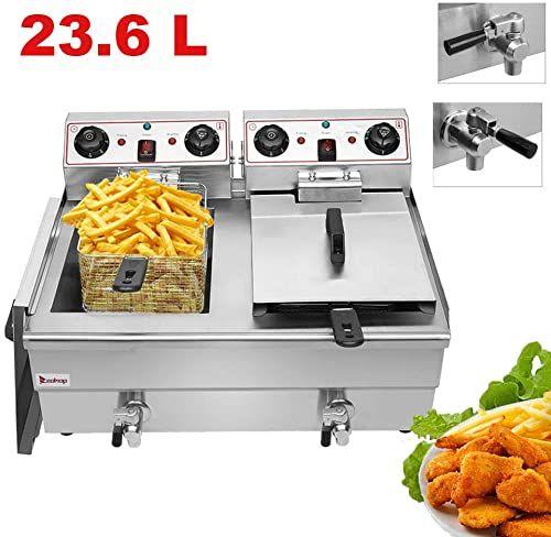 Amazing Offer On Commercial Deep Fryer 2 Basket 24 9qt 23 6l