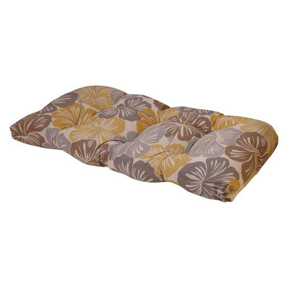 Terrasol 19 x 44 in. Outdoor Settee Cushion