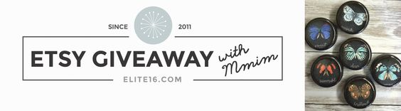 Elite 16 - Etsy Giveaway with Mmim. Enter for a chance to win a $40 Gift Certificate to Brooke's Shop! April 7th- April 21st  www.elite16.com