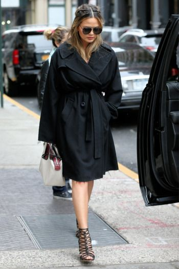 Chrissy Teigen donned Sophia Webster shoes while out and about in New York.