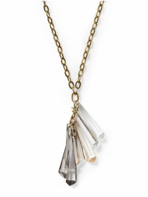 Hive & Honey Crystal Cluster Necklace