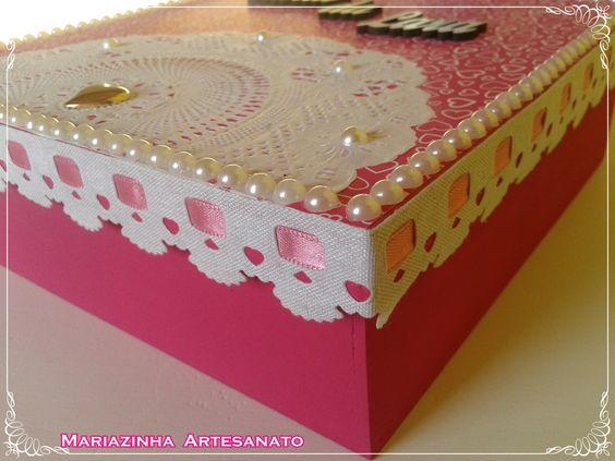 Caixa em MDF decorada. #mariazinhaartesanato #mdf #caixasdecoradas #handmade