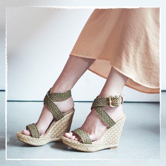 Crochet espadrille sandal
