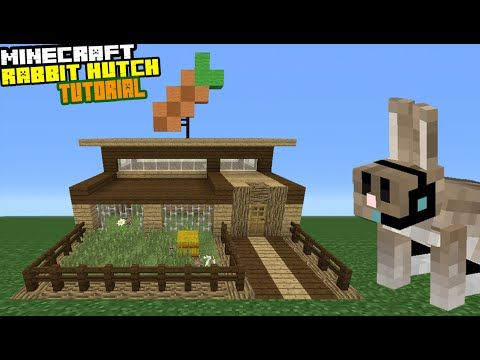 Minecraft tutorial how to make a rabbit hutch youtube kailey minecraft tutorial how to make a rabbit hutch youtube kailey pinterest rabbit tutorials and youtube ccuart Images