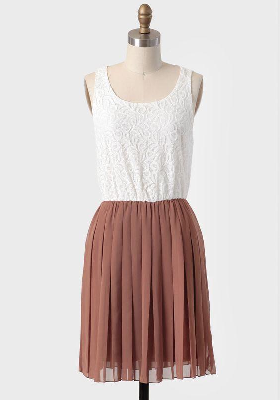 Ina pleated lace dress