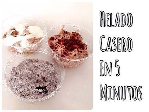 Como hacer helado casero en 5 minutos - YouTube