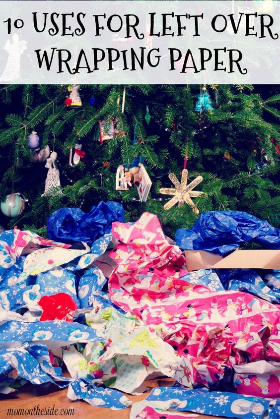 Soon, living rooms will fill with wrapping paper. If you want to save it instead of toss it, here are 10 uses for left over wrapping paper! via @momontheside