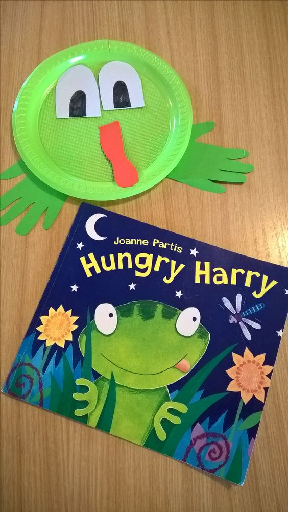 Story reflection: Paper plate frog