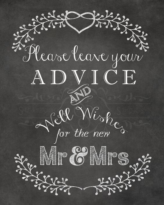 Wedding Decor Please Leave Your Advice and Well by StorybookBarn