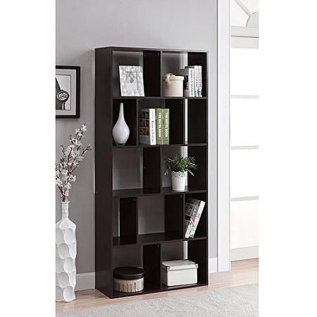 Mainstays Home 12 Shelf Bookcase Multiple Finishes