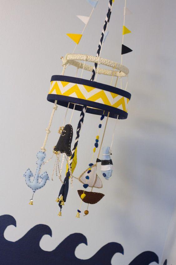 Nautical mobile - #nursery #mobile #nurserydecor