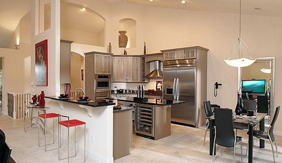 Love this all stainless steel kitchen design idea from Novum Custom Homes