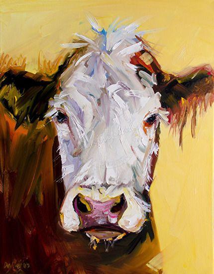 Cream Guy by Diane whitehead Oil ~ 28 x 22