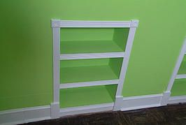 how to build recessed bookcase