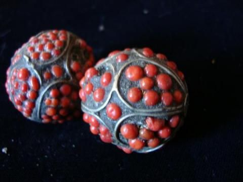 ANCIENT BEADS w/inlaid coral appraisal