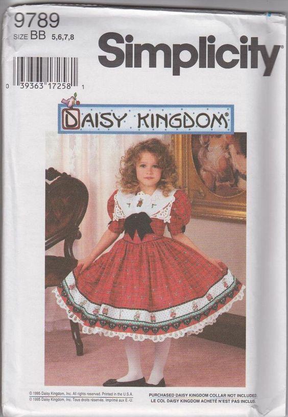 Daisy Kingdom Childs Dress sz BB 5,6,7,8 #SimplicityNewLook