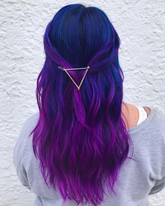 35 Blue And Purple Hair Color Ideas Purple Ombre Hair Cute Hair Colors Purple Hair