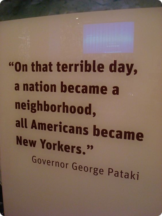 George Pataki quote about September 11, 2001 via thrifty decor chick