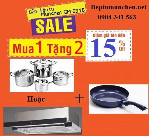 Khuyến mại mới nhất cho bếp điện từ Munchen GM 6318
