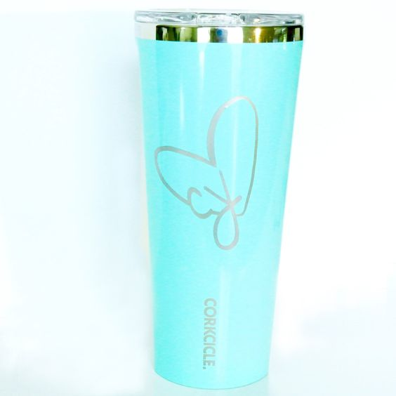 Heart With Initials Personalized Decal for Tumbler