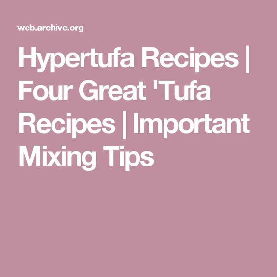 Hypertufa Recipes | Four Great 'Tufa Recipes | Important Mixing Tips