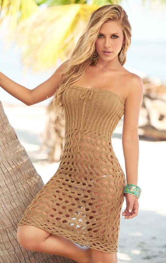 long dress cover up knitting