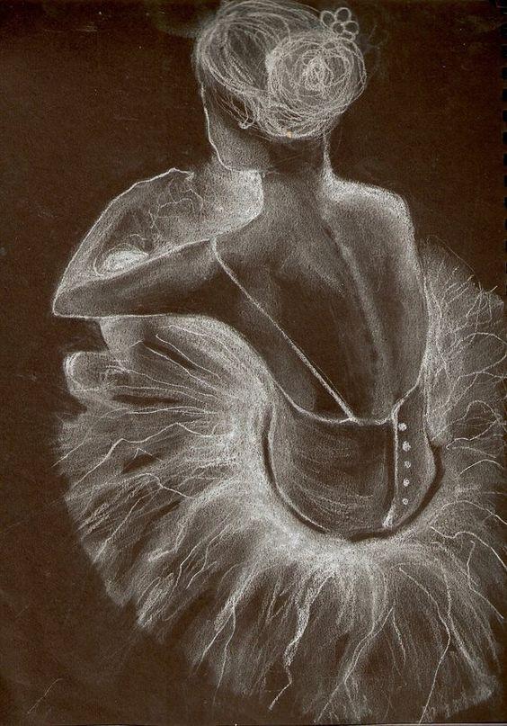 Exemple dessin au crayon blanc sur fond noir dessins - Dessin fond noir ...