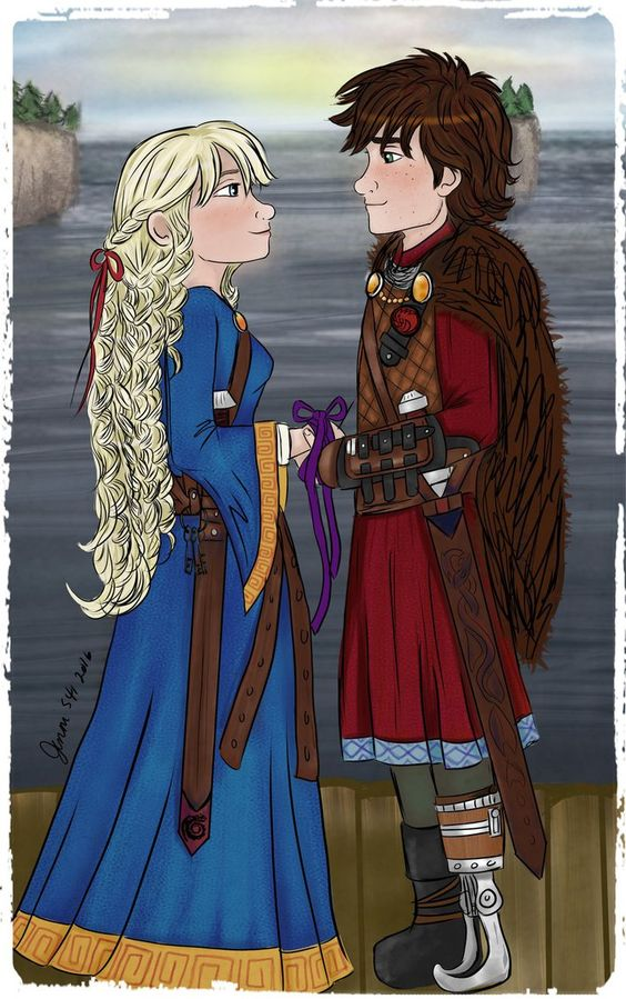 chieftain hiccup haddock the third and his bride astrid