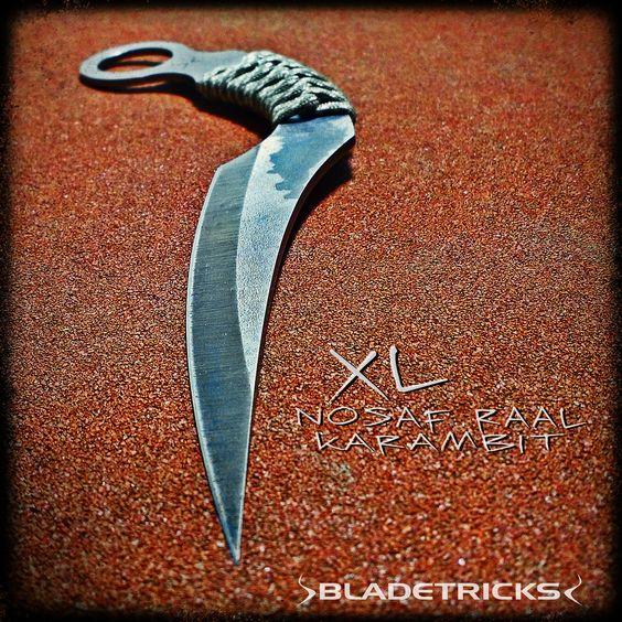BladetricksCustom made XL Nosaf Raal Karambit #knife #kali #edc
