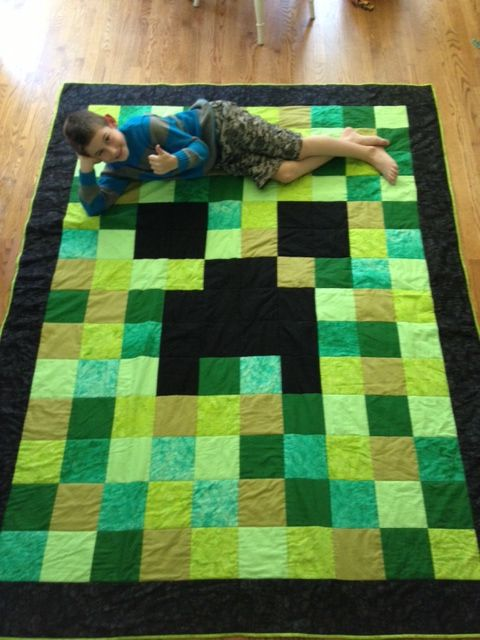minecraft quilt | View more on Kaylea Cross's website »
