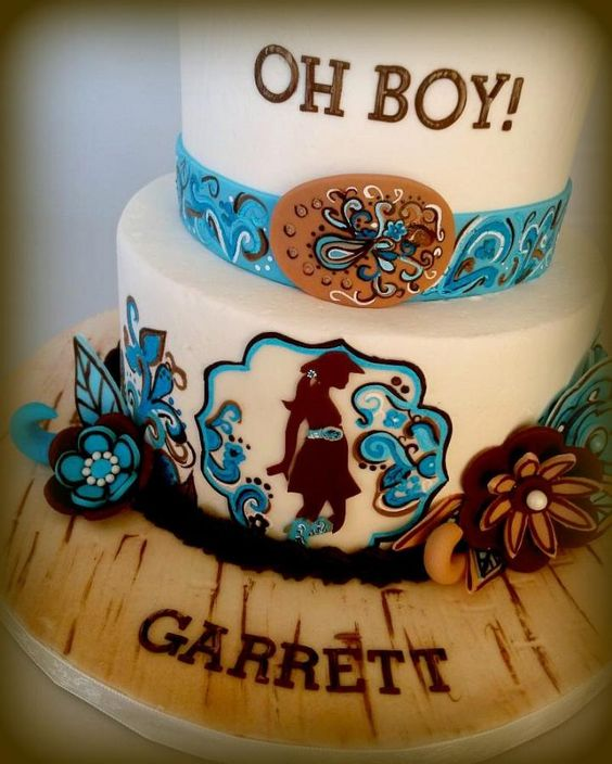 Cowgirl Baby Shower Cakes: Western Themed Cowgirl Baby Shower Cake