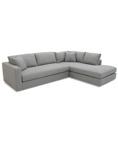Macy S Mccreary Gidette 2 Piece Fabric Chaise Sectional Sofa 4 789 00 Fabric Sectional Sofas Sectional Sofa Sectional